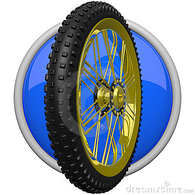 Mountain Bike Tire Icon