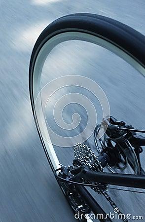 Mountain bike wheel and gears