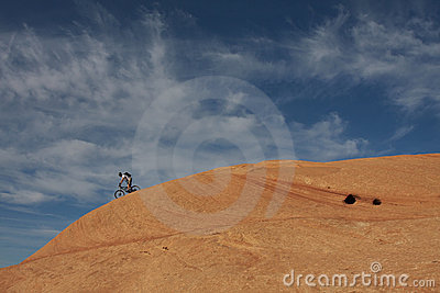 Mountain biker in action