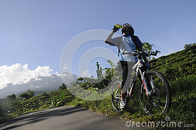 Mountain biker Editorial Stock Photo