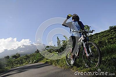 Mountain biker Editorial Stock Photo
