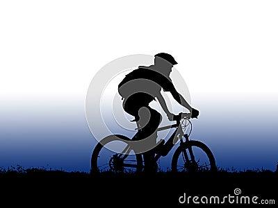Mountain biker girl