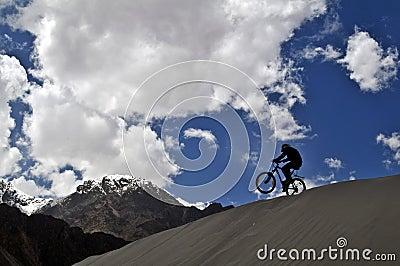 Mountain biker in Himalaya