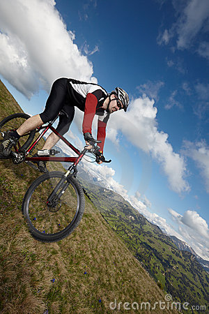 Mountain Biker with view