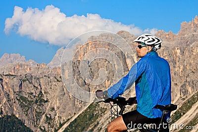 Mountain biking in European Alps