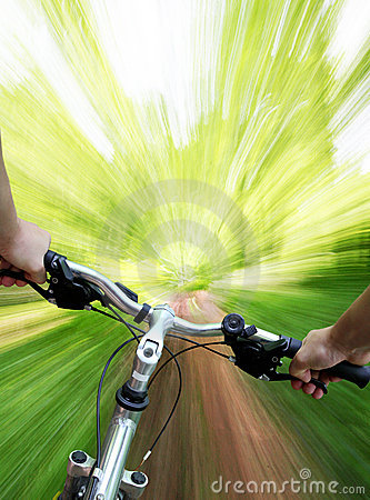 Free Mountain Biking In The Forest Royalty Free Stock Photo - 5417295