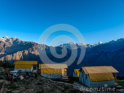 Mountain camp - Himalayas