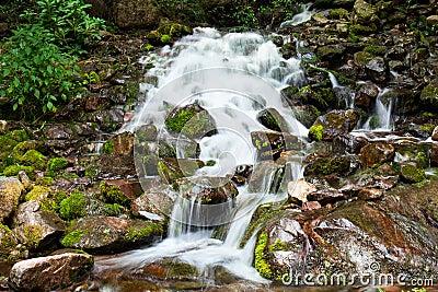 Mountain cascade of Bolivia