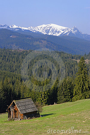 Mountain chalet in Tatras