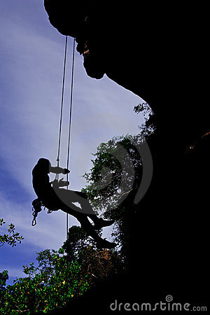 Mountain climber, Rai lay beach, south of Thailand