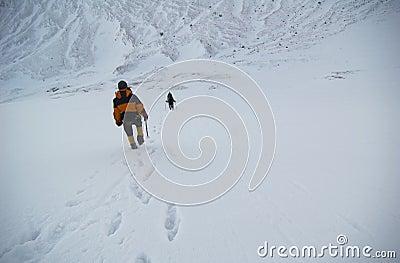 Mountain climbers.