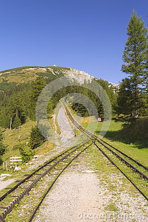 Mountain and cogwheel railway (vertically)