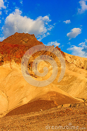 Mountain desert landscape in Death Valley National Park, Califor