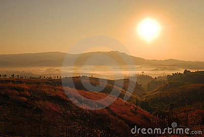 Mountain and fog Landscape
