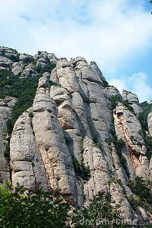 Mountain formations in Montserrat
