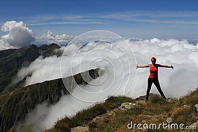 Mountain freedom hiking