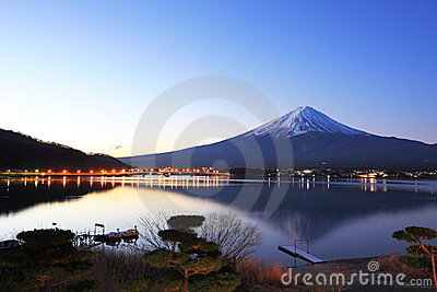 Mountain Fuji and reflections