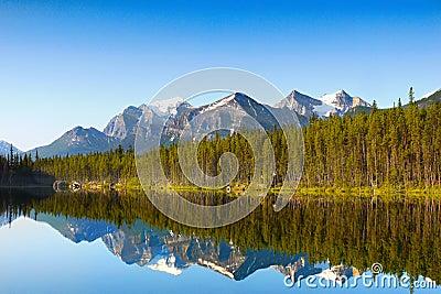 Mountain Glacial Lake Reflection