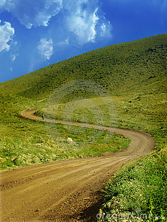 Mountain green path