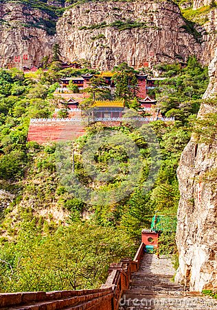 Mountain Hengshan(Northern Great Mountain) scene.