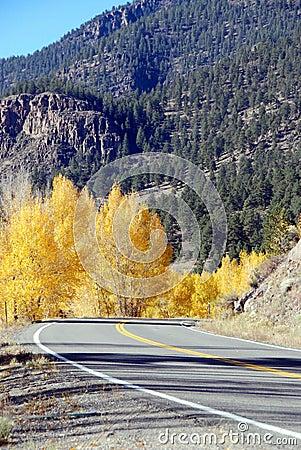 Mountain Highway in Autumn