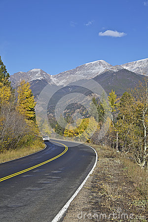 Mountain Highway in Autumn