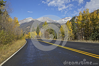 Mountain Highway in Fall