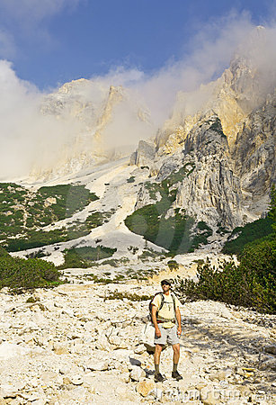 Mountain Hiker of the Alps