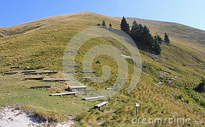 Mountain hiking landscape - Golica, Slovenia