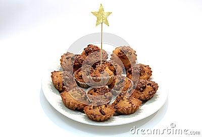 Mountain holiday cupcakes