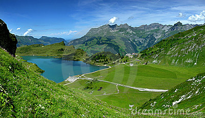Mountain lake in Alps (Switzerland)