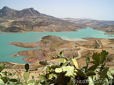 Lake Embalse de Zahara el Gastor, Spain