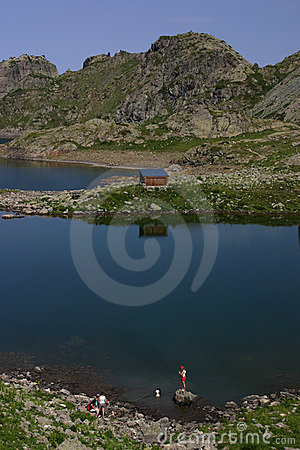 Mountain Lake in french alps