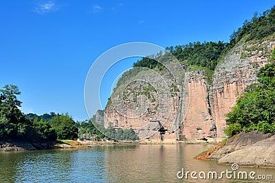 Mountain and lake landforms, Fujian, China