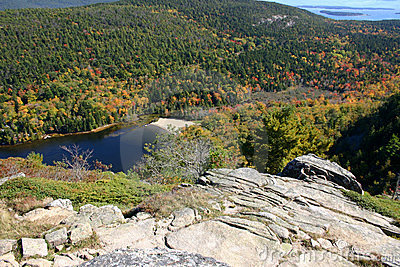 Mountain Lake in Maine - Overlook