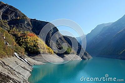 Mountain lake near Besançon, French Alps