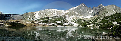 Mountain Lake Panorama Royalty Free Stock Images - Image: 2501419