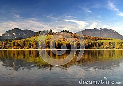Mountain lake shoreline