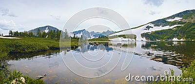 Mountain lake in Siberia