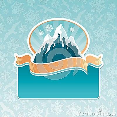 Mountain landmark emblem