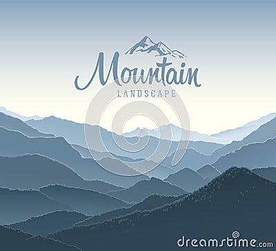 Free Mountain Landscape And Elements Logo. Stock Image - 54433851