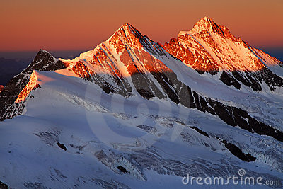 Mountain landscape in Berner Oberland