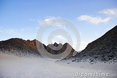 Mountain landscape in the desert