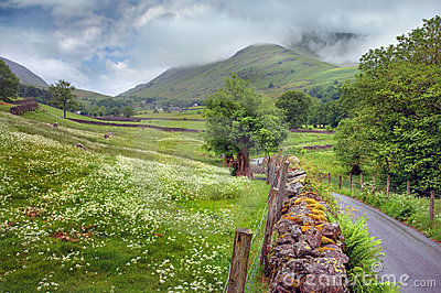 Mountain landscape in the English Lake District.