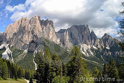 Mountain landscape, italian alps named dolomiti