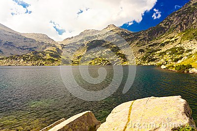 Mountain landscape with lake
