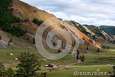 Mountain landscape in Mongolia