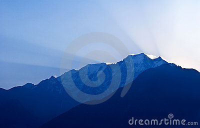 Mountain landscape in the Nepal Himalaya