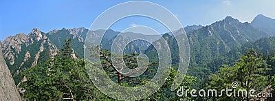 Mountain landscape, Seoraksan National Park, Korea
