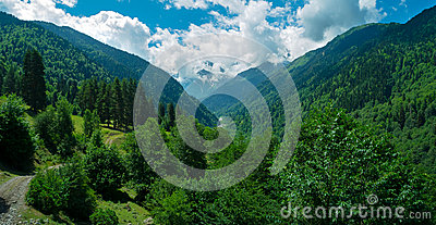 Mountain landscape in Svaneti